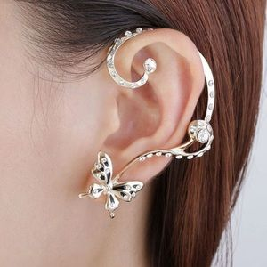 Jewelry - Crystal Butterfly Ear Cuff Wrap Set
